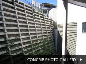 Concrib retaining wall